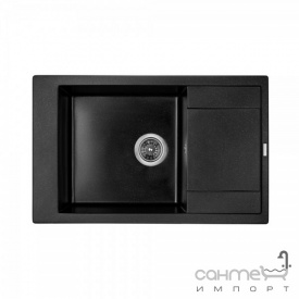 Гранитная кухонная мойка Granado Almeria 3101 black shine