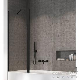 Шторка для ванны Radaway Nes Black PND 140 10009140-54-01L левосторонняя, черная/прозрачное стекло