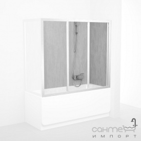 Шторка для ванны Ravak AVDP3-120 белый/grape (стекло) 40VG0102ZG