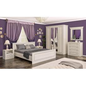 спальня 4Д ясень снежный Бристоль New Мебель-Сервис