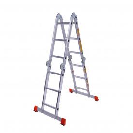 Драбина шарнірна алюмінієва Laddermaster Bellatrix A4A3 4x3 сходинки