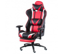 Игровое кресло Special4You ExtremeRace black-red with footrest