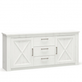 Комод Мебель-сервис Джорджия 2д3ш 196х42х88 см белый