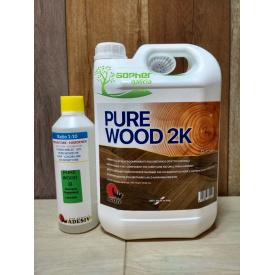 Лак для дерева Adesiv Pure Wood 2K 5,5 л