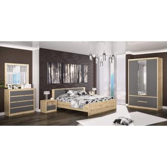 Спальня Мебель-Сервис Доминика дуб артисан/серый