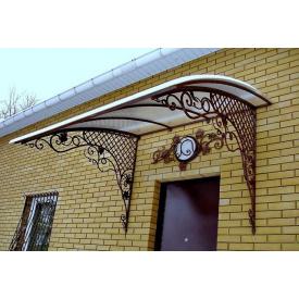 Кований козирок для вхідних дверей Legran