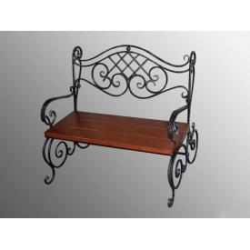 Скамейка садовая Legran с художественной ковкой