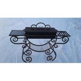 Мангал кованый металлический с крышкой Legran