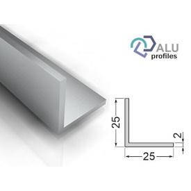 Кутник алюмінієвий 6063Т5 25х25х2х6000 мм