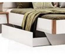Ящик кровати Ники дуб крафт + белый глянец Миро-Марк