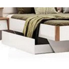 Ящик кровати дуб крафт + белый глянец Ники Миро-Марк