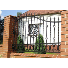 Забор волнистый с коваными элементами металлический Legran