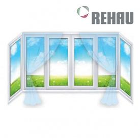 Балкон П-образный Rehau 2850х850х1450 мм