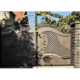 Ворота ковані з сіткою 4.2м на 2.0м
