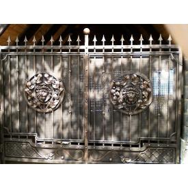 Ворота ковані з левами 3.2м на 2.0м