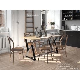 Кухонный стол Дио Тенеро 1200x750 мм нераскладной лсп+металлические ножки