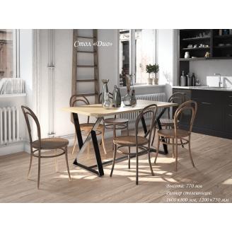Кухонний стіл Діо Тенеро 1200x750 мм нерозкладний лсп + металеві ніжки