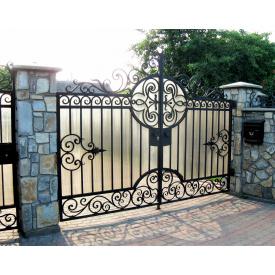 Ворота кованые черные Б0037в 3.8vм на 1.9м Legran