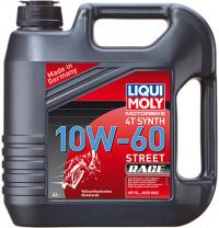 Масло для 4-т двигателей Liqui Moly Motorbike 4T Synth 10W-60 Street Race 4 л