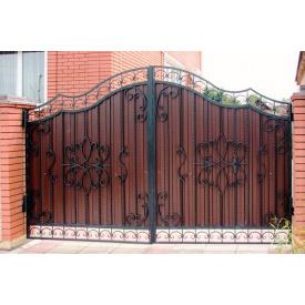Ворота ковані з профнастилом Б0023пр Legran