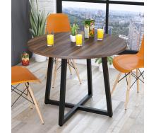 Круглий обідній стіл Loft-Design Бланк 762х1000 мм горіх-модена