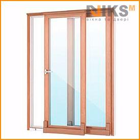 Наклонно- сдвижные двери WDS 7S Дуб золотой в массе 2000*2000