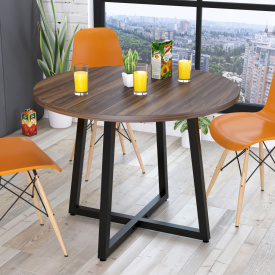 Круглый обеденный стол Loft-Design Бланк 762х1000 мм орех-модена
