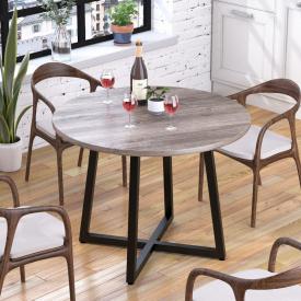 Круглый обеденный стол Loft-Design Бланк 762х1000 мм дуб-палена