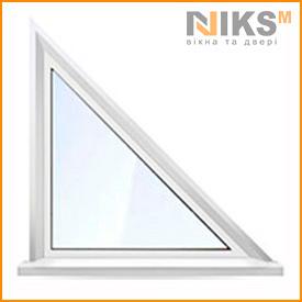 Треугольное металлопластиковое окно WDS 5s 1000х1000 мм