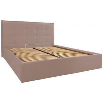 Двоспальне ліжко Monica Richman 160х200 см бежева з м`яким узголів`ям