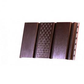 Софит панель перфорированная 300x3000мм RainWay, коричневая