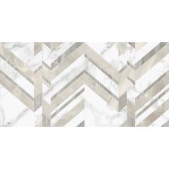 Керамическая плитка Marmo Bianco шеврон 300х600 Киев