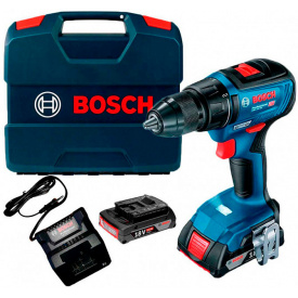 Аккумуляторная дрель-шуруповерт Bosch GSR 18V-50 Professional (18 В, 2 А*ч) (06019H5000)