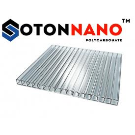 Стільниковий полікарбонат ТМ SOTON NANO 4х2100х6000 мм прозорий