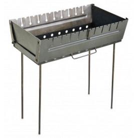 Мангал-чемодан 59x34x65 см на 10 шампуров ВИСТ