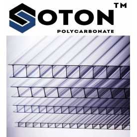Сотовый поликарбонат ТМ SOTON 4x2100х6000 мм прозрачный