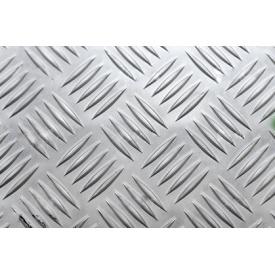 Лист алюмінієвий рифлений 4х1250х2500 мм АД0