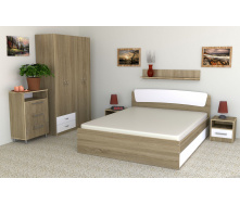 Модульна спальня Компанит Класика-6 лдсп дуб-Сонома-комбі