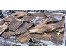 Облицовочный рваный камень Alex Group Закарпатский андезит 2,5 см оливковый