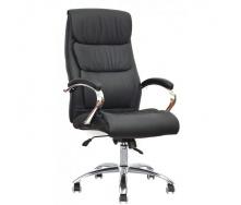 Офісне шкіряне крісло Special4You Eternity Black E6019 чорного кольору