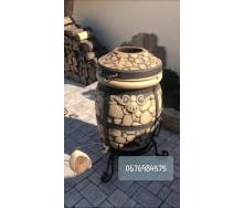 Тандыр Камень с откидной/съемной крышкой 60 л