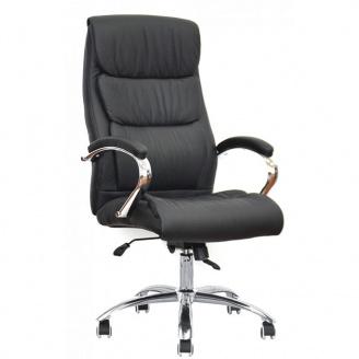 Офисное кожанное кресло Special4You Eternity Black E6019 черного цвета