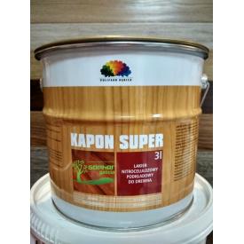 Лак грунтовочный нитроцеллюлозный Polifarb Debica Капон Супер Kapon Super 3л
