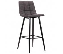 Барный стул AMF Mobil черный 1030х420х480 мм мягкий нубук базальт