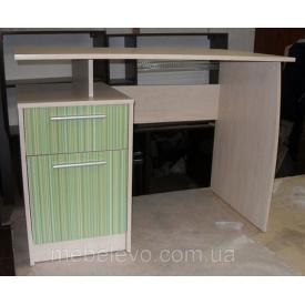 Комп`ютерний стіл Сімба береза / зелений Меблі-Сервіс