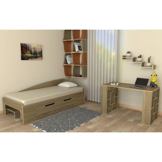 Детская одноместная спальня Компанит №3 лдсп дуб-сонома
