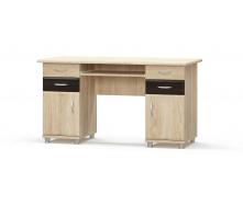 Письменный стол 2-тумбовый МДФ венге темный+Дуб самоа Мебель-Сервис