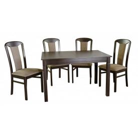 Стол обеденный нераскладной Карпаты венге темный Мебель-Сервис