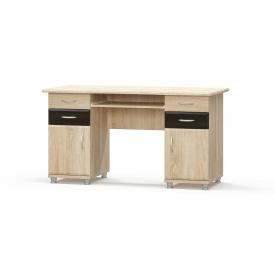 Письмовий стіл 2-тумбовий МДФ венге темний + Дуб Самоа Меблі-Сервіс