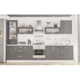 Кухня Гамма матова 2,0 м. Зі стільницею білий / серий Мебель-Сервіс